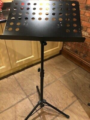 Stagg Brand MUS-C5 TP Conductors Music Stand and Box - Black