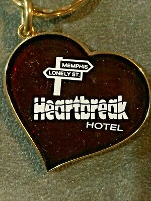 Elvis Presley - Vintage Collectible Keychain - Red Now Closed Heartbreak Hotel