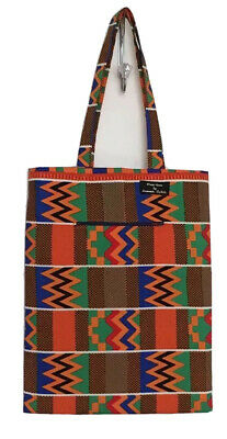 African Print Reusable Fabric Tote Bag