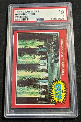 Star Wars - Series 2 (Red) Trading Card # 90 - Topps 1977 - PSA Graded - NM 7