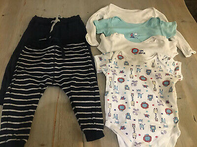 Boys Bundle of Joggers and Vests, Age 12-18 Months