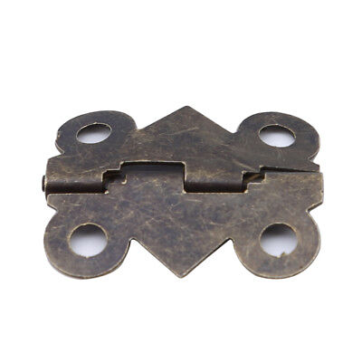 Small Butterfly Hinges Furniture Cabinet Drawer Door Hardware Cupboard KI