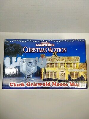 National Lampoon's Christmas Vacation Clark Griswold Marty Moose Mug Glass