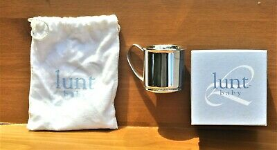 LUNT STERLING SILVER Beaded Baby Cup NEW IN BOX !