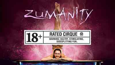 (2)Tickets - Zumanity - Cirque Du Soleil - Las Vegas NY, NY Discounted from $185