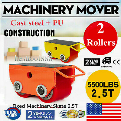 Heavy Duty Industrial Machinery Roller Mover Cargo Trolley Dolly Skate 5500 lbs