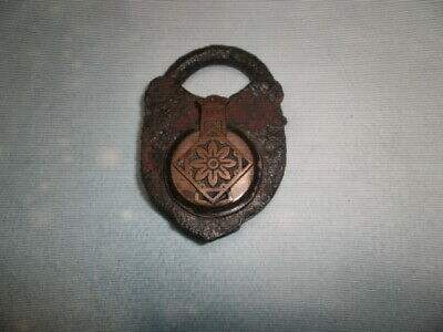 Antique Pad Lock 1700'S? Iron Brass Unique One Of A Kind Item
