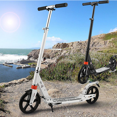 Ancheer Lightweight Adult Folding T-Style Kick Scooter Big Wheels Outdoor Sports