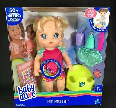 Baby Alive Potty Dance Talking Blonde Hair Doll