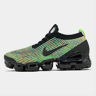 Nike Air Vapormax Flyknit 3 Men's Running Black - Volt - Blue Lagoon - Racer Blu