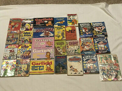 ic Book Lot Archie Beetle Bailey Garfield Captain