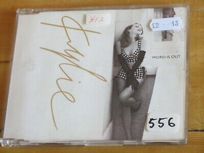 """Kylie MINOGUE Word Is Out (3 track UK CD single) 90s 12"""" remix/PWL/SAW"""