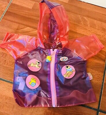 Zapf Creation Baby Born Doll Rain Coat Outfit Clothes Ideal Stocking Filler VGC