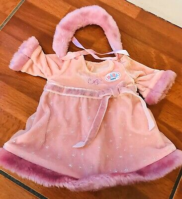 Zapf Creation Baby Born Dolls Winter Dress Outfit, BEAUTIFUL Clothes Accessories