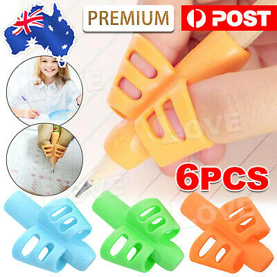 6PCS Children Pencil Holder Pen Writing Aid Grip Posture Tools Correction NEW