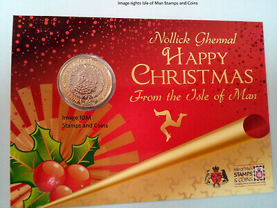 Isle of Man 2019 £2 two pound Father Christmas coin gift pack