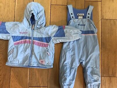 Gorgeous GIrls Colombia Snow Ski Suit, Padded Jacket & Sallopettes AGE 2