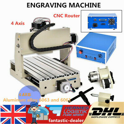 3020 CNC Router Engraver 4 Axis 3D Engraving Machine Crafts Wooden Cutting 300W