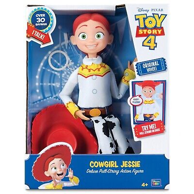 "Toy Story 4 Cowgirl Jessie Deluxe Talking 16"" Doll Action Figure with Pull Ring"