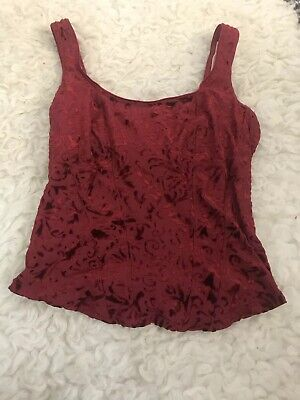 Burgundy Vintage Victorias Secret Lingerie Top Size Medium