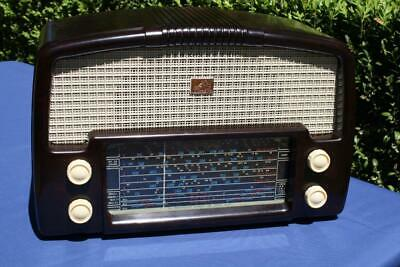 Beautiful Vintage Mottled Brown Bakelite Hmv Valve Radio