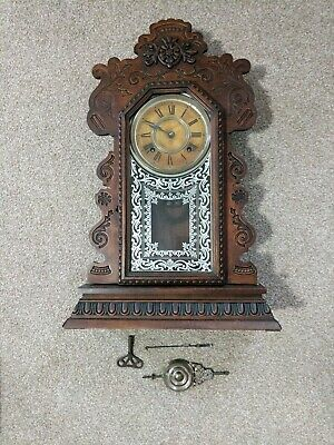 Antique, Ansonia Gingerbread Clock, Needs Attention but V G Cosmetic Condition.