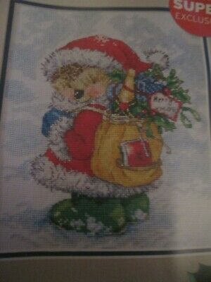'Santa's Little Helper' Country Companions Cross Stitch Chart Only
