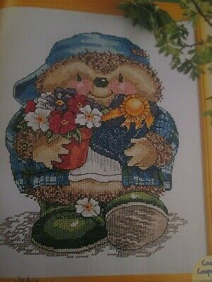 'Ed Hedgehog' Country Companions Cross Stitch Chart Only