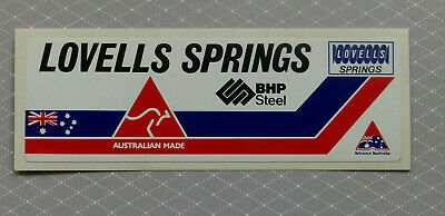 LOVELLS SPRINGS ..  Original Vintage 1980,s  4WD AUTO sticker