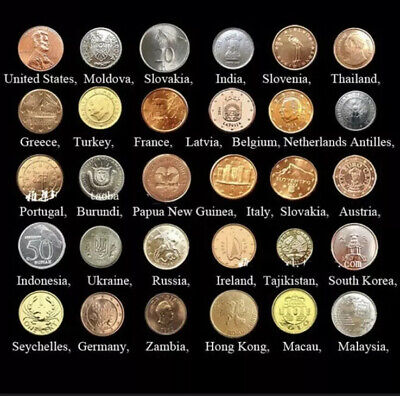 30 Coins Collection Set From 30 Countries