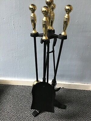 Fireside Companion Black Cast and Brass. New Never Used.