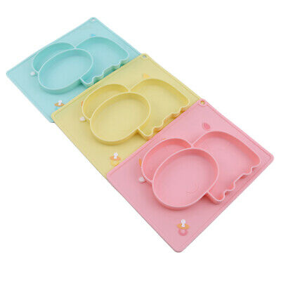 Children Silicone Plate Integrated Silicone Tableware Compartment Plate ONE