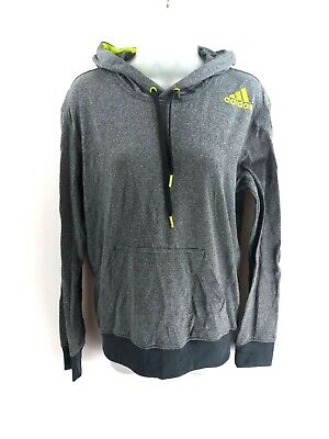 ADIDAS Womens Hoodie Jumper S Small Grey Polyester