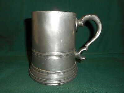 antique pewter tankard by Watts & Harton 1860