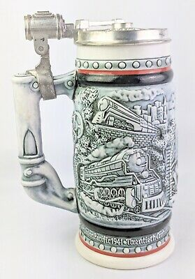 AVON Stein Beer Mug Tankard Train Locomotive 1982 Union Pacific Railroad