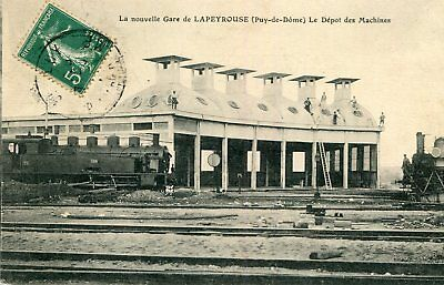 Carte La Nouvelle Gare de LAPEYROUSE Le Dépôt des Machines Locomotives de train