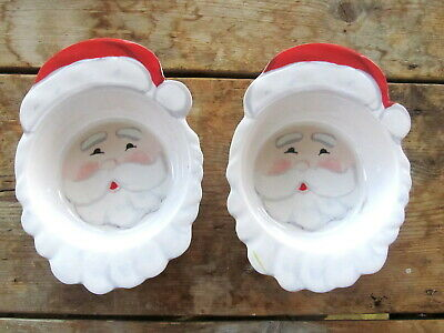 Set Of 2 Pottery Barn Kids Rudolph The Red Nosed Reindeer Santa Bowls