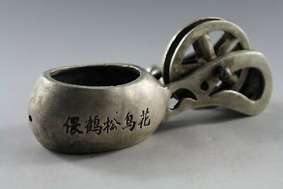 Collection Old Chinese ancient measuring tool old Tibetan silver Ink fountain