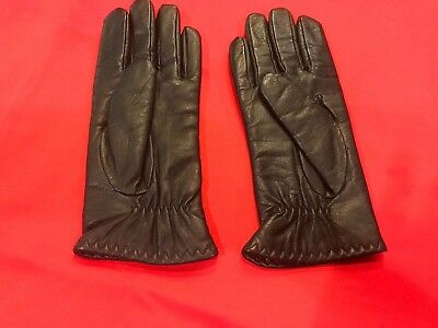 Ladies XL Leather Driving Gloves Thinsulate Black NWOT