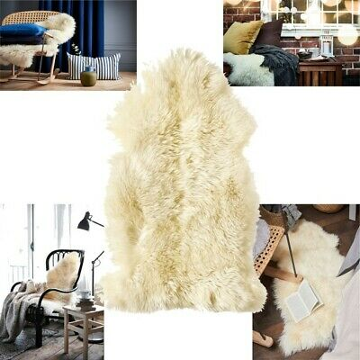 Ikea LUDDE Sheepskin Real Soft Fur Rug Home Décor Wool/Leather XMAS Special