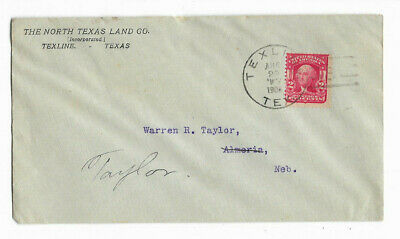 1906 The North Texas Land Co. - Texline, Texas Canceled Cover
