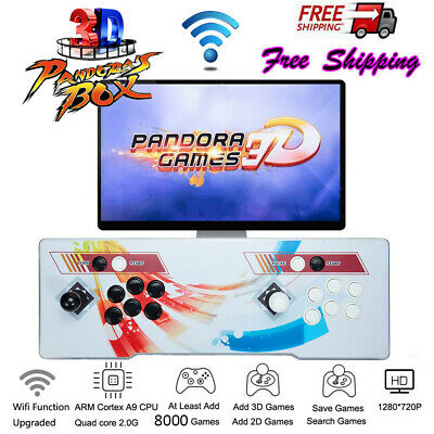 WIFI 3D Pandora Box 2448 Retro Video Games Double Stick Arcade Console US Plug