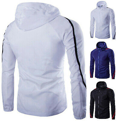 Mens Winter Warm Hooded Waterproof Windproof Jacket Zip Up Sports Casual Coat UK
