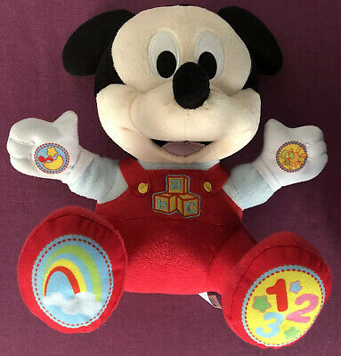 Mickey Mouse Happy Sounds Toy Interactive Soft Plush With Sound Brand New
