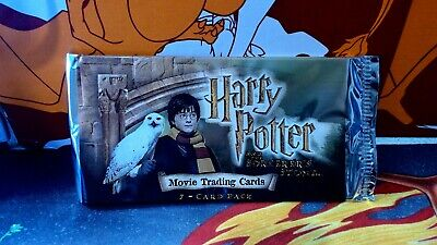 harry potter booster trading cards x1 pack vintage from 2001
