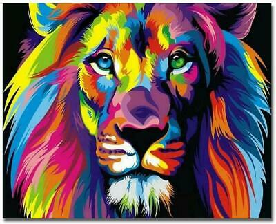 Paint By Numbers Kit - Adults - LION - 20in x 16in