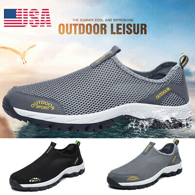 Men's Big Size Breathable Mesh Water Shoes Non-slip Trail Hiking Camping Sneaker