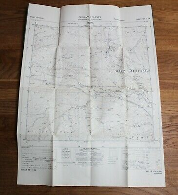 Ordnance Survey Map SD 89 SW Yorkshire 6 inch to 1 mile Hawes High Abbotside