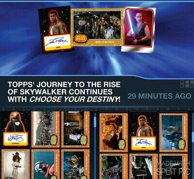 Topps Star Wars Card Trader Journey Rise Skywalker Orange Base & Signature Wave2