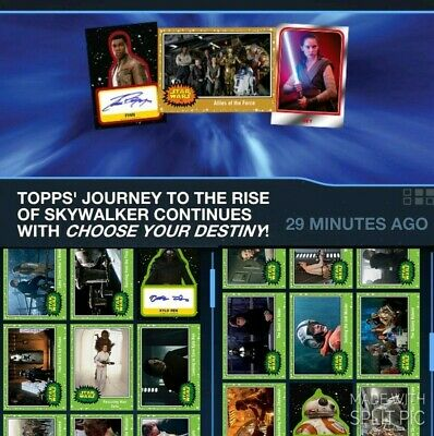 Topps Star Wars Card Trader Journey Rise Skywalker Green Base & Signature Wave 2